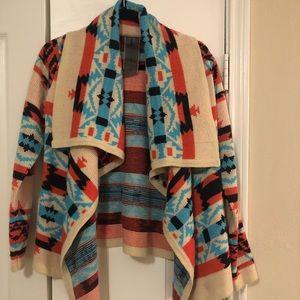 Aztec cardigan sweater!